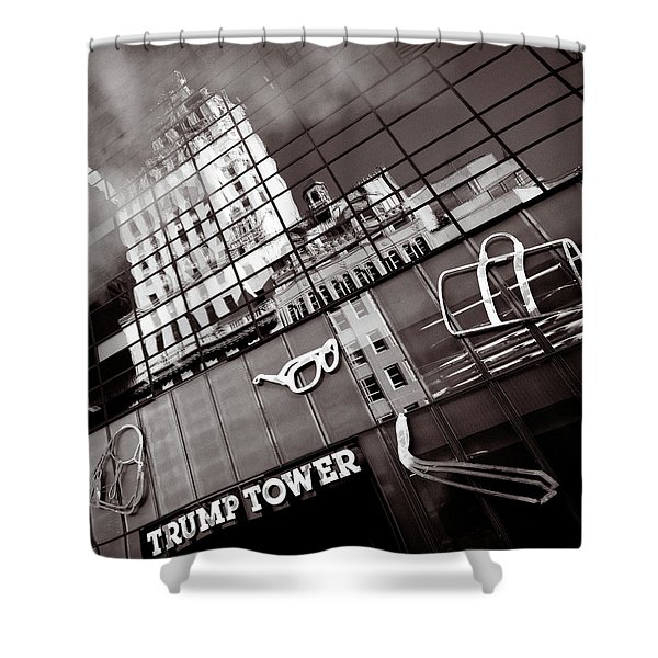 Trump Tower Shower Curtain by Dave Bowman