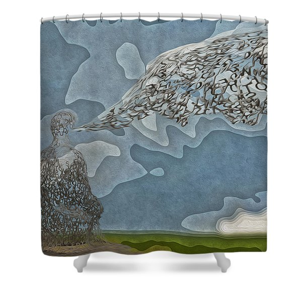 Trying To Find The Right Words Shower Curtain by Jack Zulli