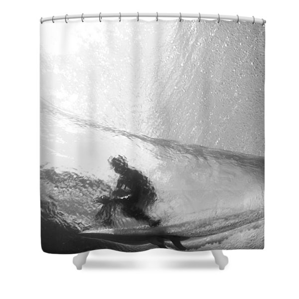 Tube Time Shower Curtain by Sean Davey