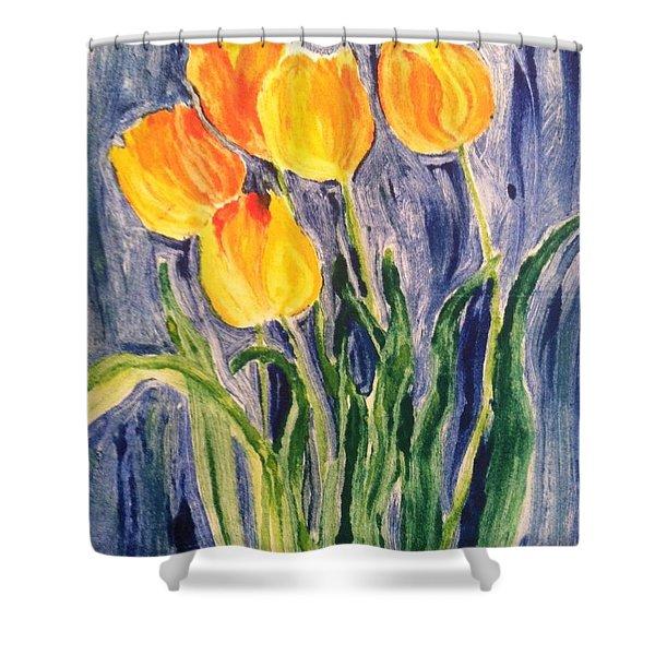 Tulips Shower Curtain by Sherry Harradence