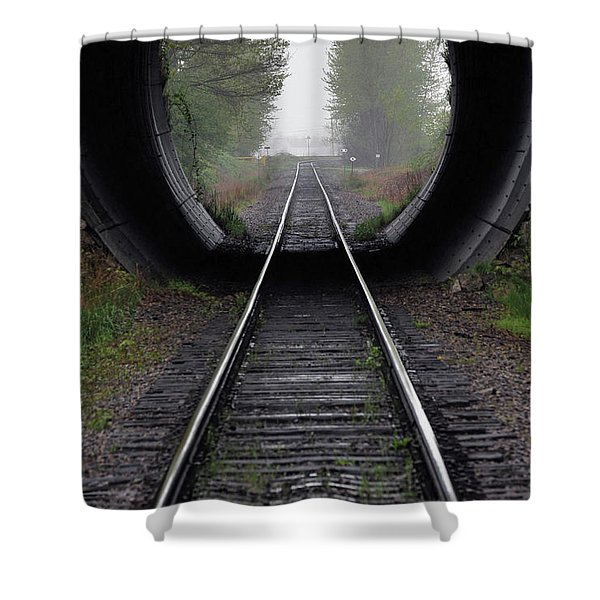 Tunnel Into The Mist Shower Curtain by Rod Wiens