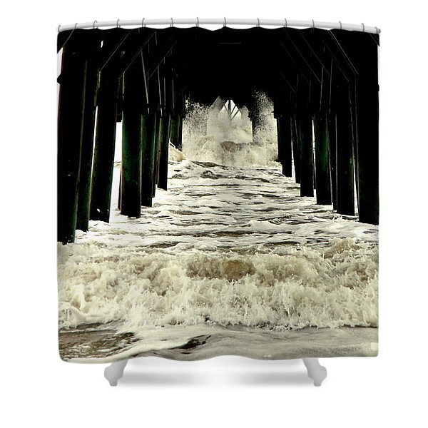 Tunnel Vision Shower Curtain by Karen Wiles