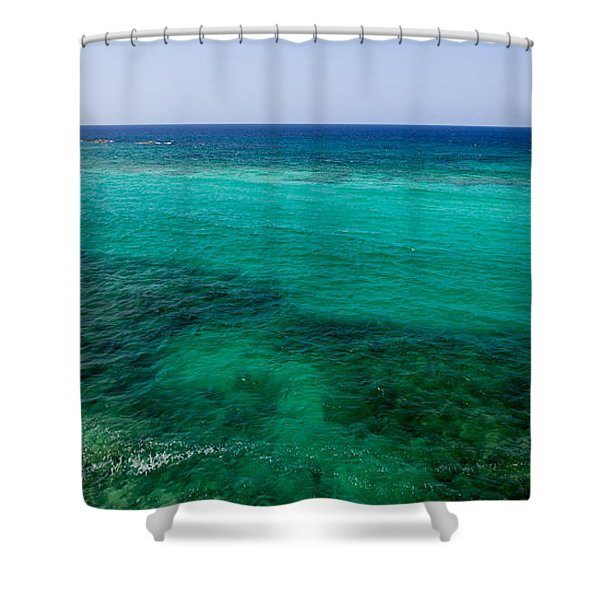 Turks Turquoise Shower Curtain by Chad Dutson