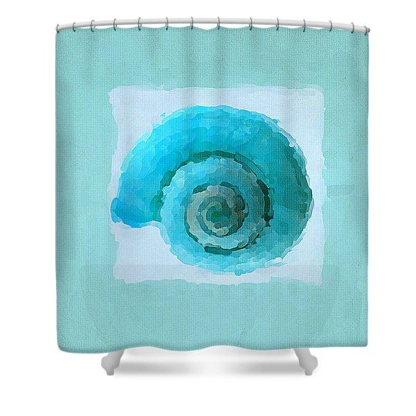 Turquoise Seashells III Shower Curtain by Lourry Legarde