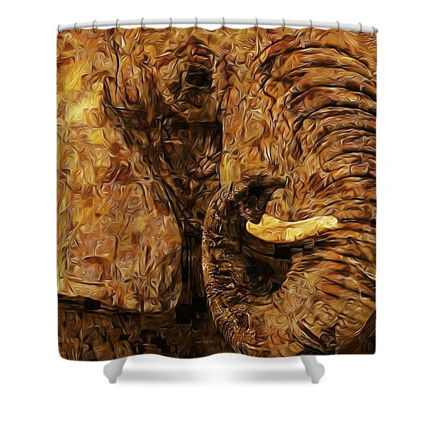 Tusk - Happened At The Zoo Shower Curtain by Jack Zulli