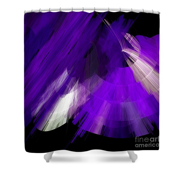 Tutu Stage Left Abstract Purple Shower Curtain by Andee Design