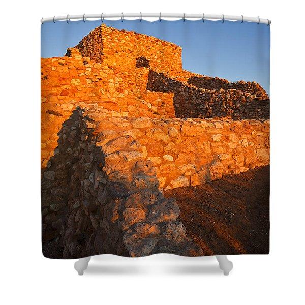 Tuzigoot Dawn Shower Curtain by Mike  Dawson