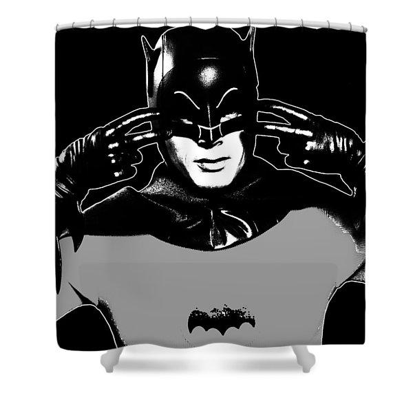Tv Batman Adam West Shower Curtain by Tony Rubino