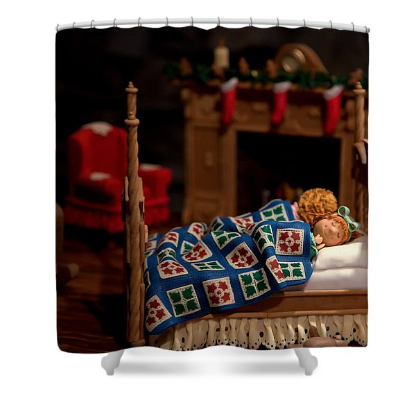 Twas The Night Before Christmas Shower Curtain by Karen Wiles