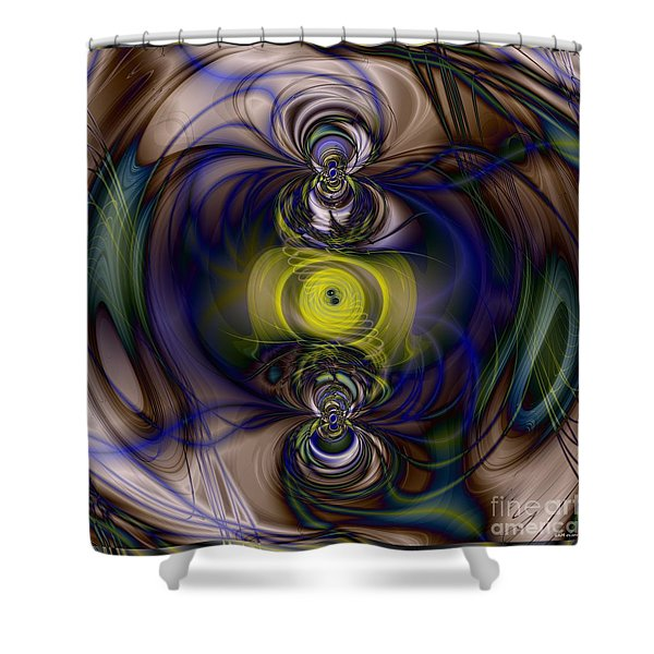 Twine Of Light Shower Curtain by Elizabeth McTaggart