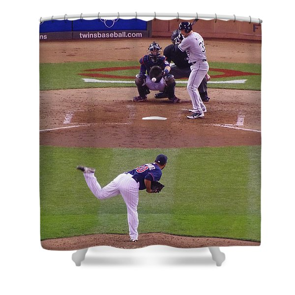 Twins Vs White Sox 2 Shower Curtain by Todd and candice Dailey