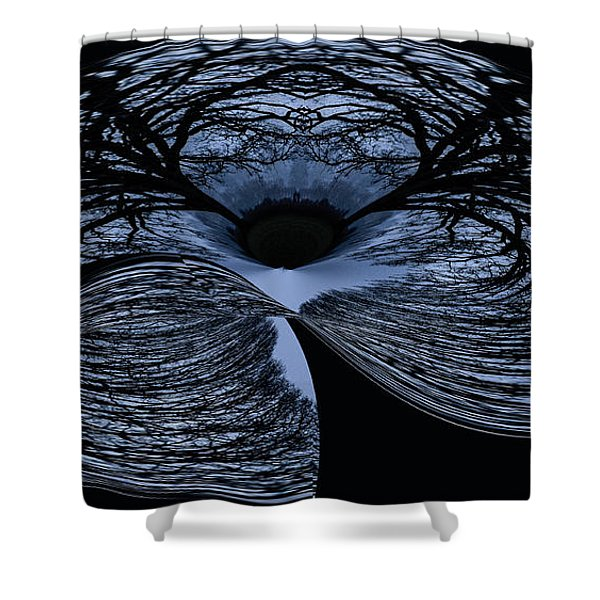 Twisted tree Shower Curtain by Jean Noren