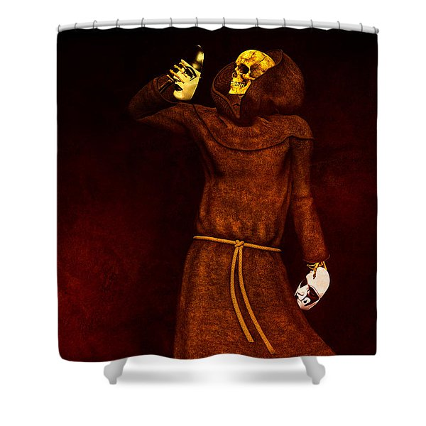 Two Faces of Death Shower Curtain by Bob Orsillo