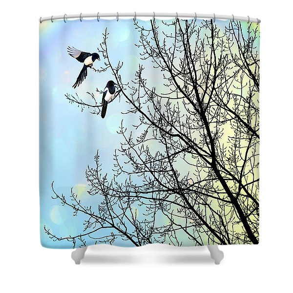 Two for Joy Shower Curtain by John Edwards