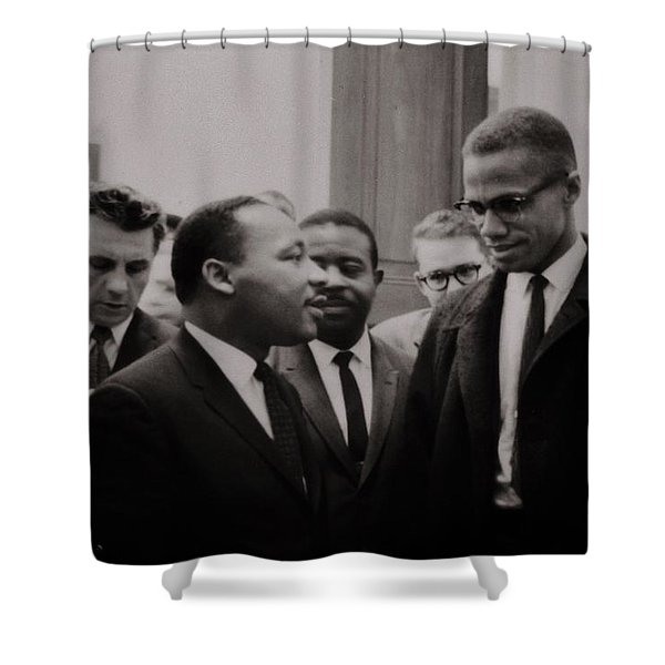 Two Means to an End Shower Curtain by Benjamin Yeager