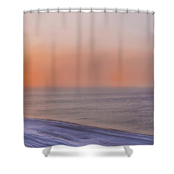 Two Sundogs Hang In The Air Over The Shower Curtain by Kevin Smith