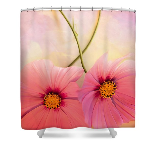 Two's Company Shower Curtain by Jan Bickerton