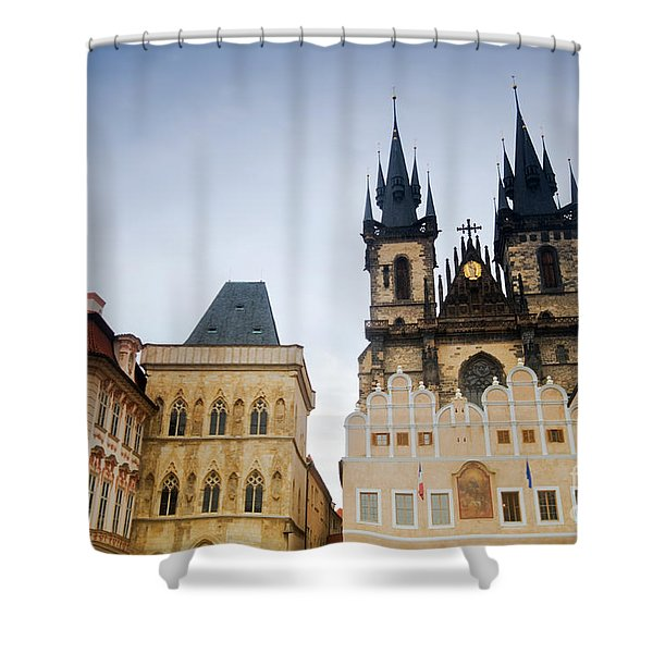 Tyn Church In Prague Shower Curtain by Michal Bednarek