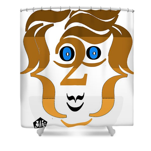 Typortraiture Paul Mccartney Shower Curtain by Seth Weaver
