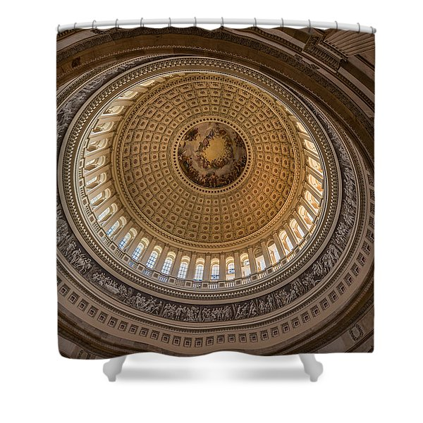 U S Capitol Rotunda Shower Curtain by Steve Gadomski