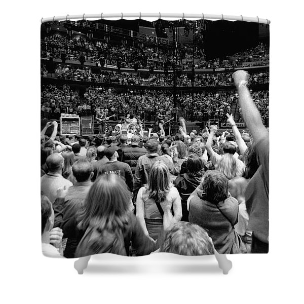 U2-crowd-gp13 Shower Curtain by Timothy Bischoff