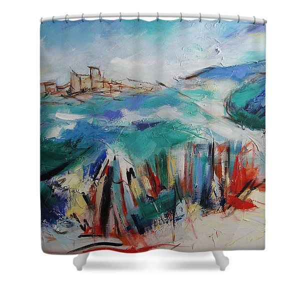 Umbria Shower Curtain by Elise Palmigiani