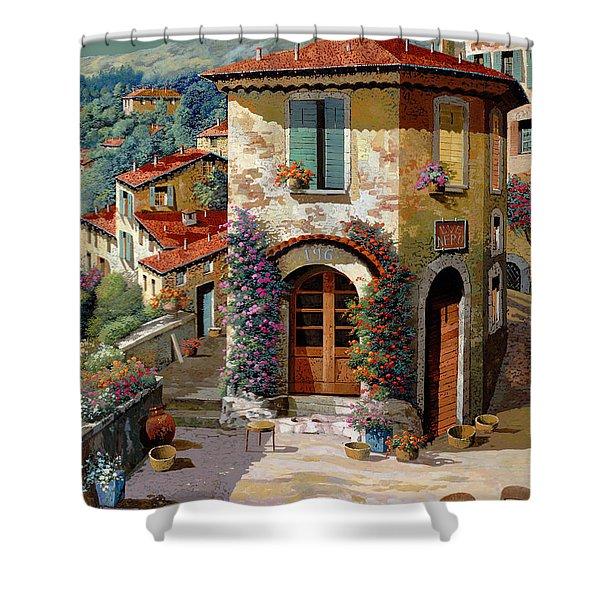 un cielo verdolino Shower Curtain by Guido Borelli