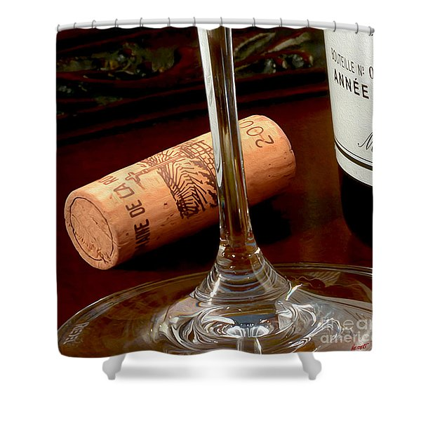 Uncorked Shower Curtain by Jon Neidert