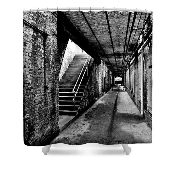 Under Alcatraz Shower Curtain by Benjamin Yeager