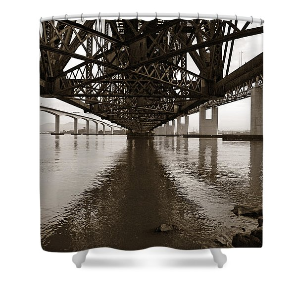 Under Bridges Shower Curtain by Donna Blackhall