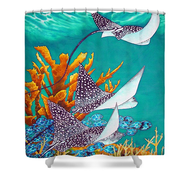 Under the Bahamian Sea Shower Curtain by Daniel Jean-Baptiste