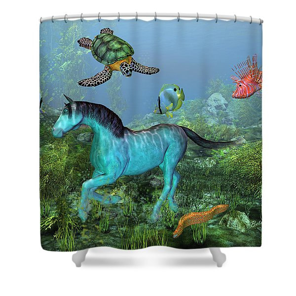 Under The Sea II Shower Curtain by Betsy C  Knapp