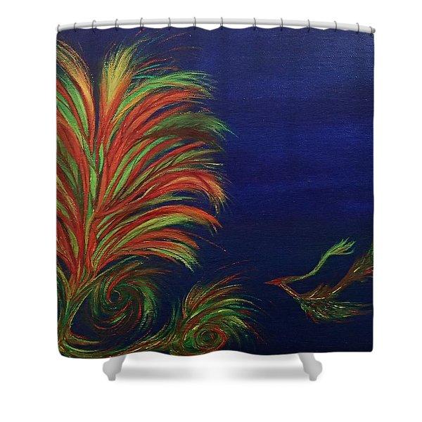 Undersea Shower Curtain by Robert Nickologianis