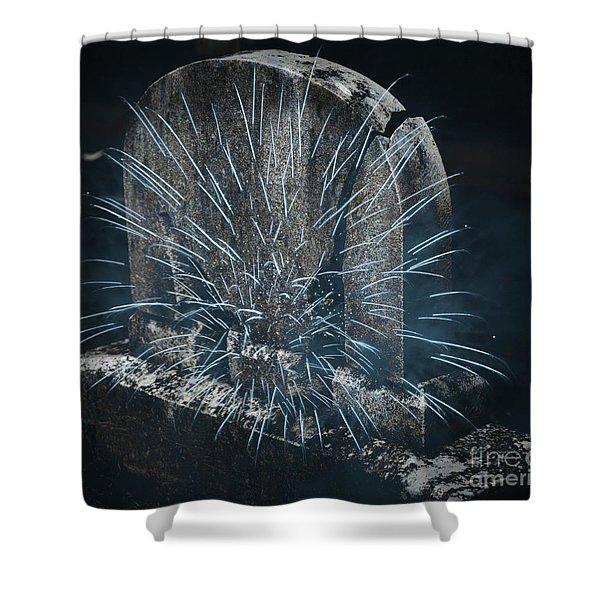 Underworld Encounter Shower Curtain by John Stephens