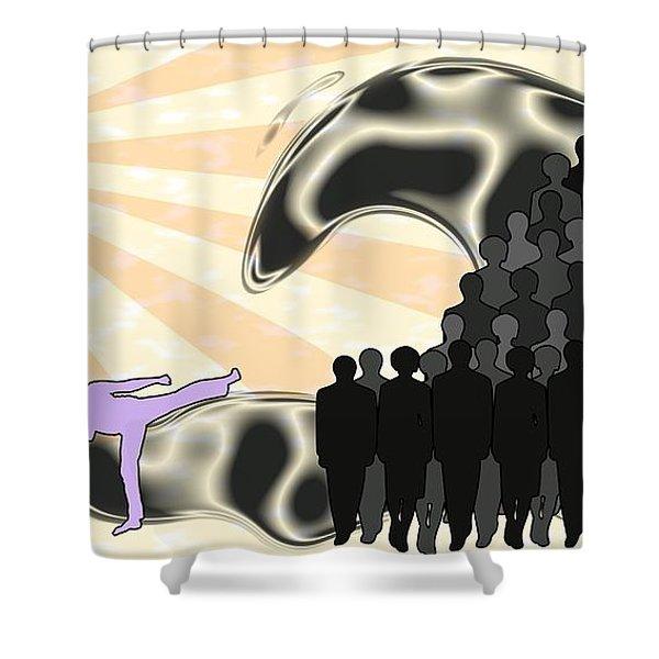 Unification Shower Curtain by Anastasiya Malakhova