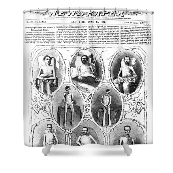UNION SOLDIERS RELEASED  JUNE 1864 Shower Curtain by Daniel Hagerman
