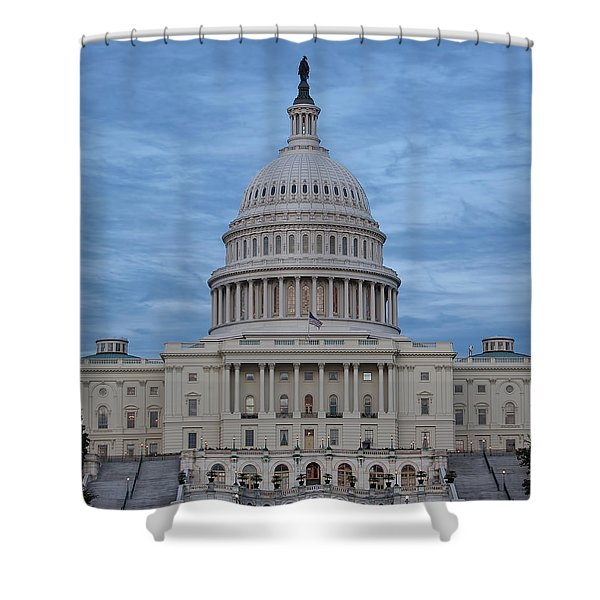 United States Capitol Building Shower Curtain by Kim Hojnacki