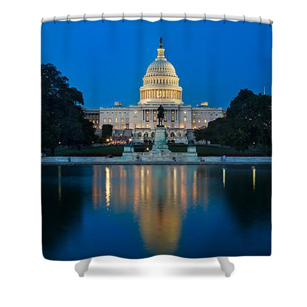 United States Capitol Shower Curtain by Steve Gadomski