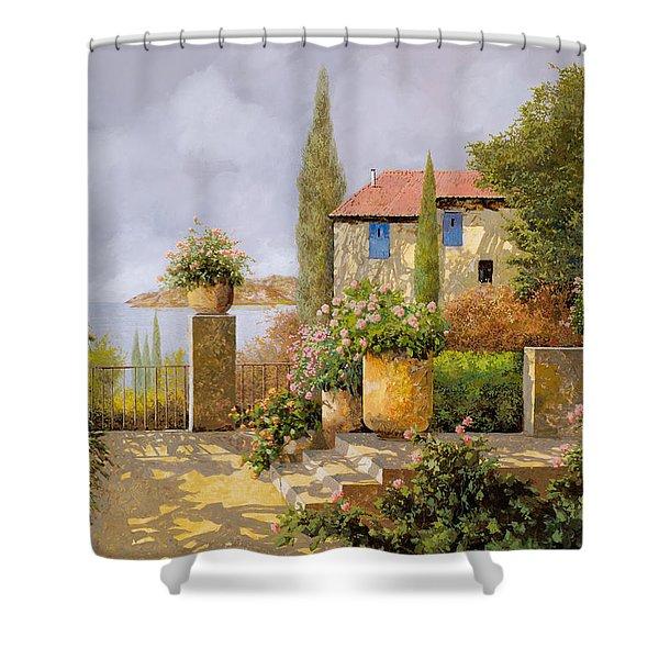 Uno Sguardo Sul Mare Shower Curtain by Guido Borelli
