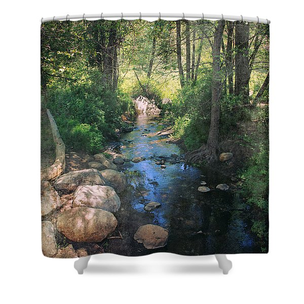 Until I Loved You Shower Curtain by Laurie Search