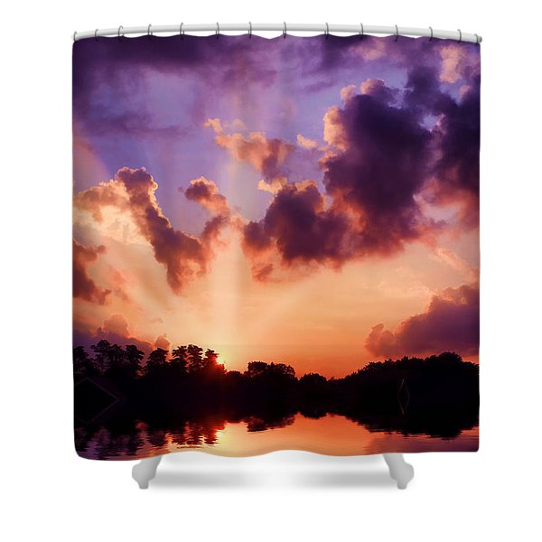 Until Tomorrow Shower Curtain by Darren Fisher
