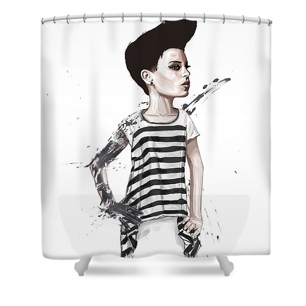 untitled II Shower Curtain by Balazs Solti