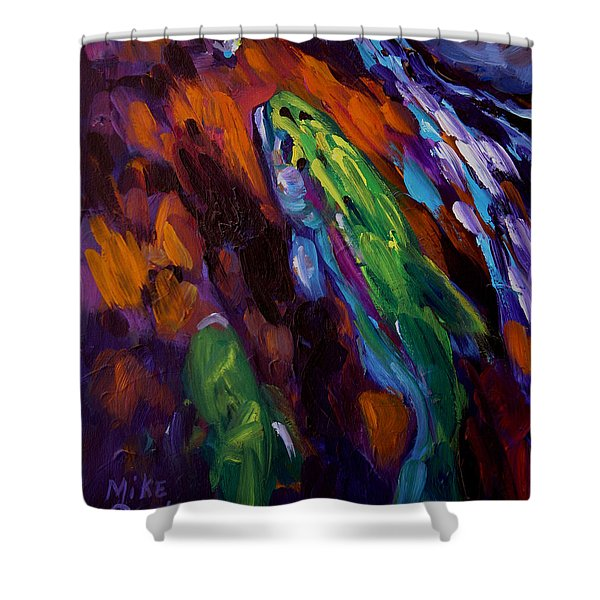 Up Stream Shower Curtain by Savlen Art