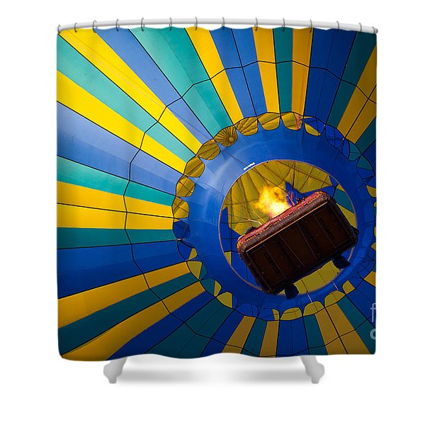Up Up And Away Shower Curtain by Inge Johnsson