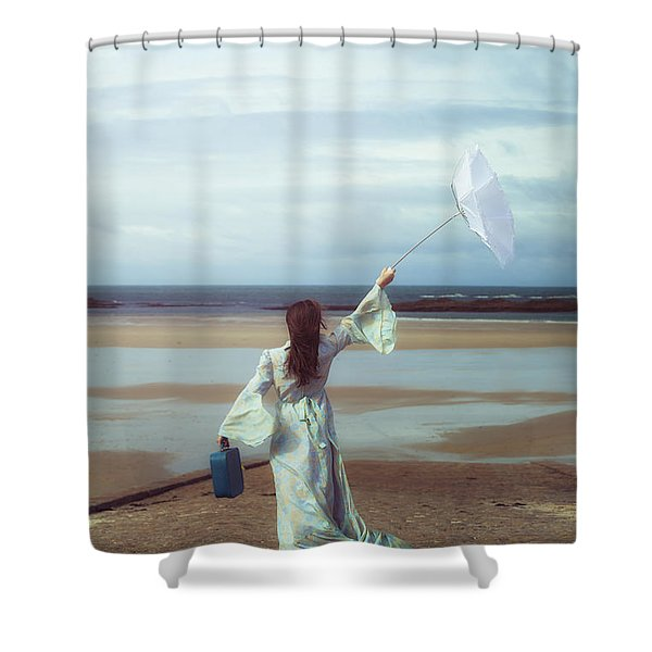 upended umbrella Shower Curtain by Joana Kruse