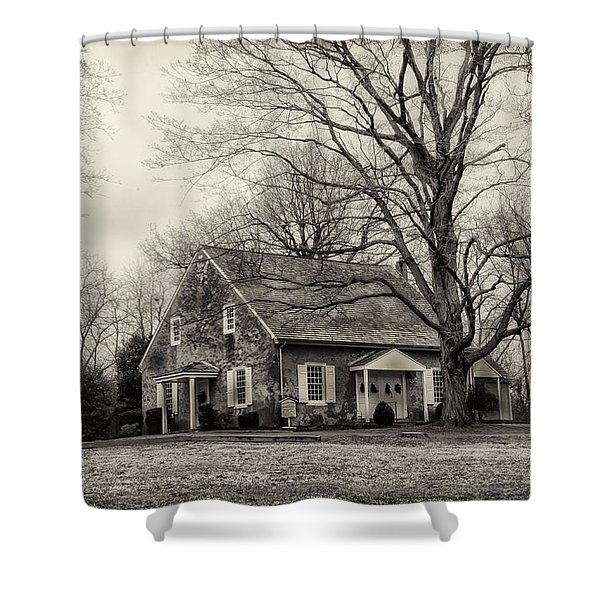 Upper Dublin Meetinghouse in Sepia Shower Curtain by Bill Cannon