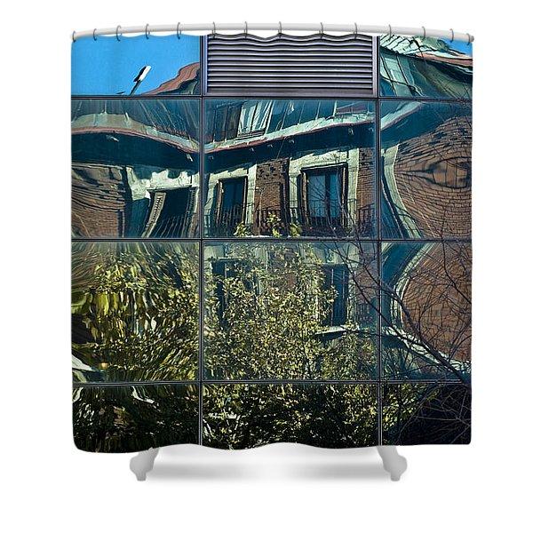Urban Reflections Madrid Shower Curtain by Frank Tschakert