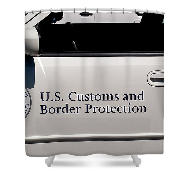 U.S. Customs and Border Protection Shower Curtain by Roger Reeves  and Terrie Heslop