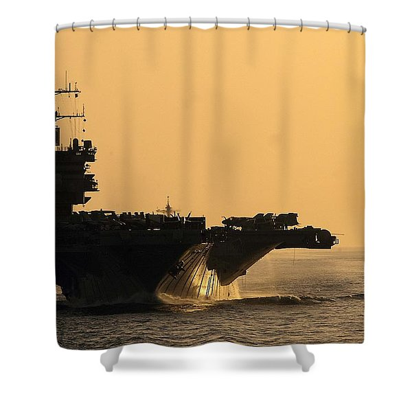 Uss Enterprise Shower Curtain by Mountain Dreams