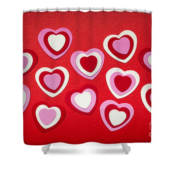 Valentines Day Hearts Shower Curtain by Elena Elisseeva